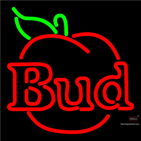 Budweiser Bud Apple Neon Beer Sign