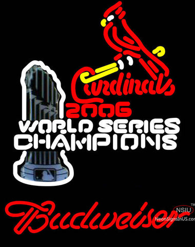 Budweiser Cardinals  World Champions Neon Sign