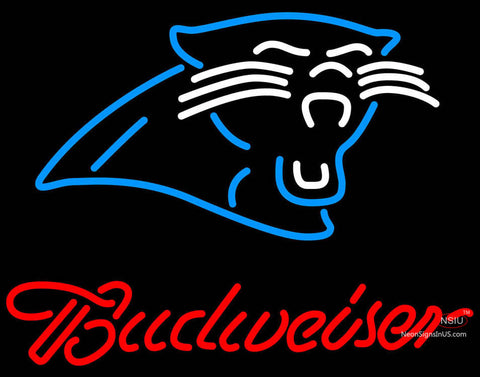 Budweiser Carolina Panthers NFL Neon Sign