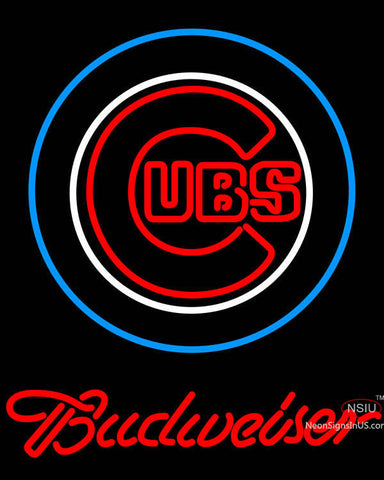 Budweiser Chicago Cubs MLB Neon Sign
