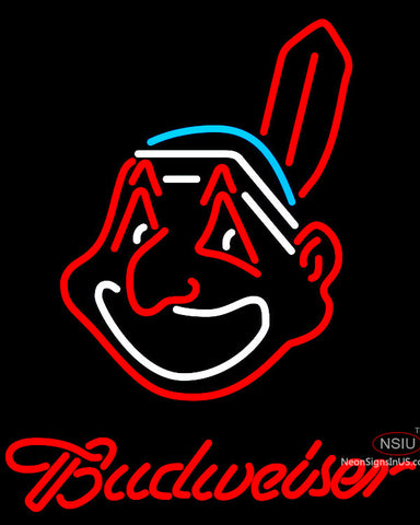 Budweiser Cleveland Indians MLB Neon Sign