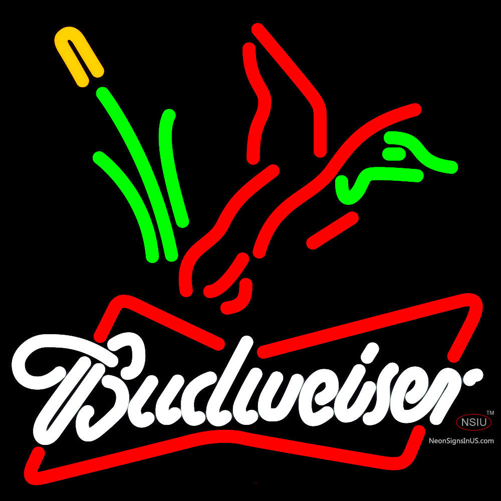 Budweiser Collectible Duck Hunting Neon Sign – NeonSigns