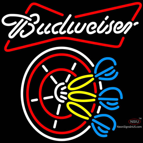 Budweiser Darts Neon Sign