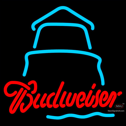 Budweiser Day Lighthouse Neon Sign x