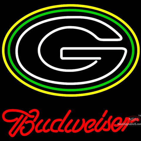 Budweiser Green Bay Packers NFL Neon Sign x