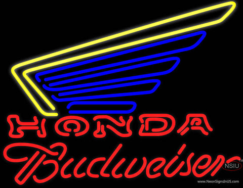 Budweiser Honda Motorcycles Gold Wing Neon Sign