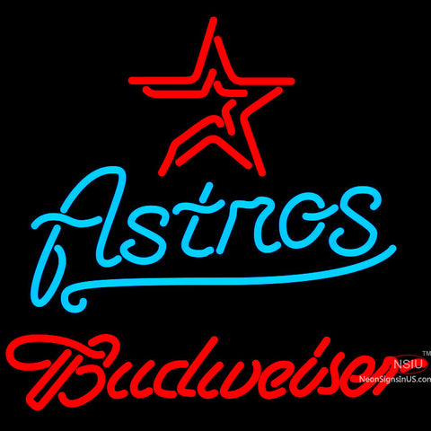 Budweiser Houston Astros MLB Neon Sign x