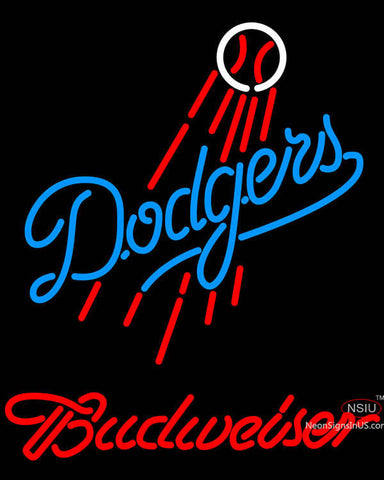 Budweiser Los Angeles Dodgers MLB Neon Sign