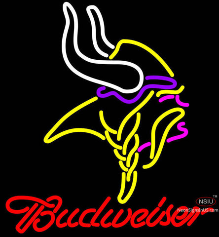 Budweiser Minnesota Vikings NFL Neon Sign