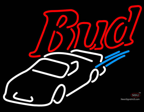 Budweiser NASCAR Stockcar Neon Sign