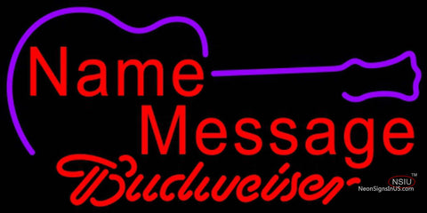 Budweiser Neon Acoustic Guitar Neon Sign