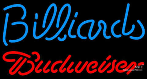 Budweiser Neon Billiards Text Pool Neon Sign  7