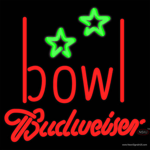 Budweiser Neon Bowling Alley Neon Sign   x