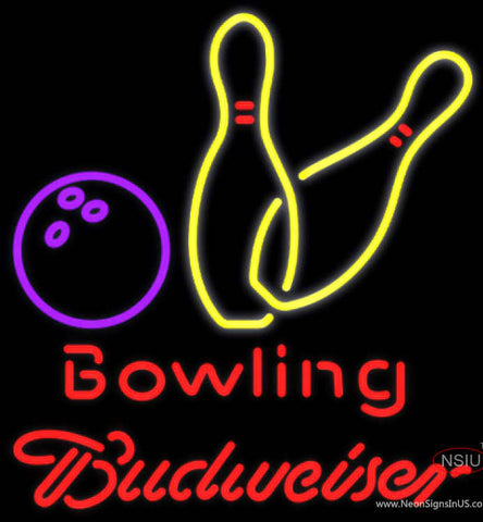 Budweiser Neon Bowling Neon Yellow Sign