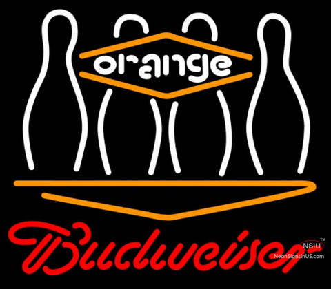 Budweiser Neon Bowling Orange Neon Sign