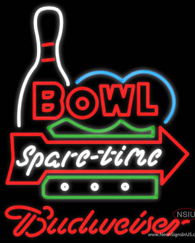 Budweiser Neon Bowling Spare Time Neon Sign