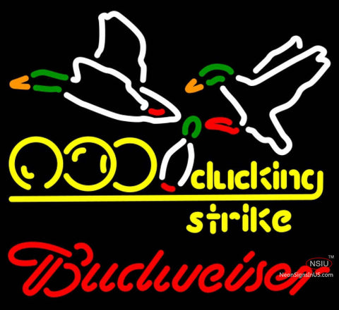 Budweiser Neon Bowling Sucking Strike Neon Sign