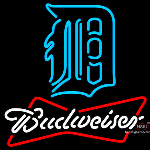 Budweiser Neon Detroit Tigers MLB Neon Sign