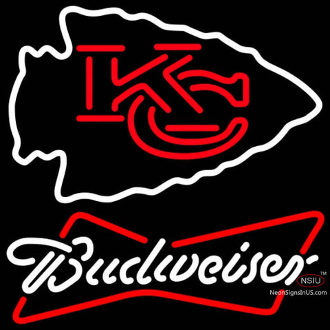 Budweiser Neon Kansas City Chiefs NFL Neon Sign   x