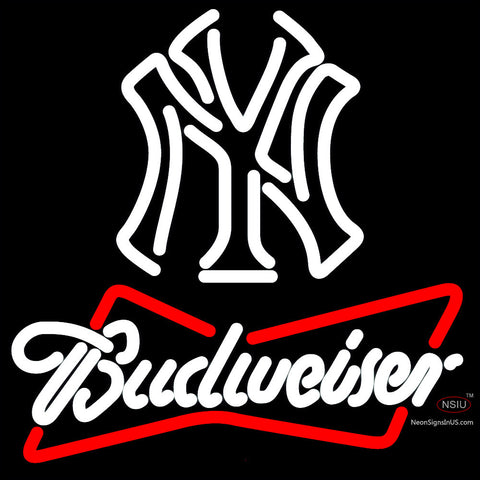 Budweiser Neon New York Yankees White MLB Neon Sign   x
