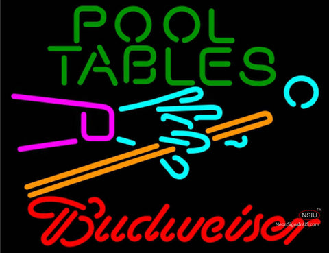 Budweiser Neon Pool Tables Billiards Neon Sign