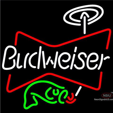 Budweiser Fish Neon Beer Sign x