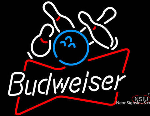 Budweiser Bowling Ball Neon Beer Sign