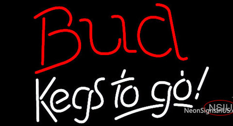 Bud Kegs To Go Neon Beer Sign