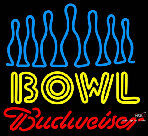 Budweiser Neon Ten Pin Bowling Neon Sign