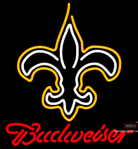 Budweiser New Orleans Saints NFL Neon Sign