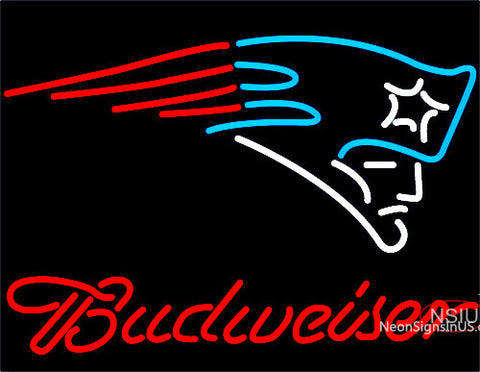 Budweiser New England Patriots NFL Neon Sign