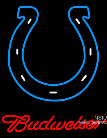 Budweiser Indianapolis Colts NFL Neon Sign