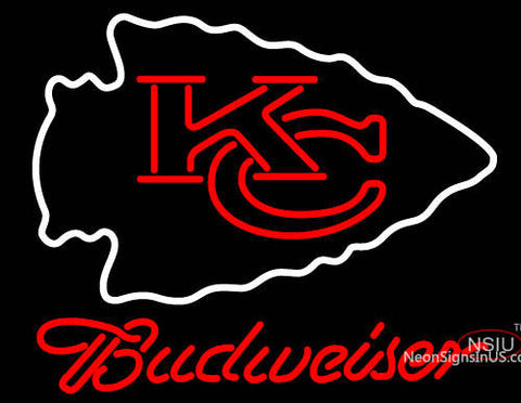 Budweiser Kansas City Chiefs NFL Neon Sign