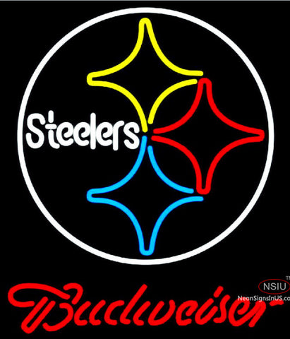 Budweiser Pittsburgh Steelers NFL Neon Sign