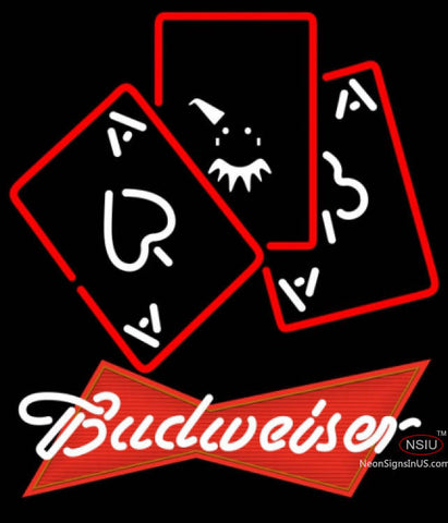 Budweiser Red Ace And Poker Neon Sign 7
