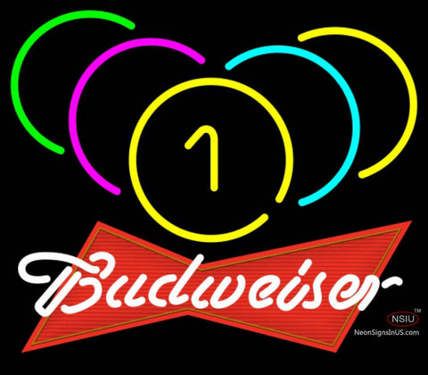 Budweiser Red Billiards Rack Pool Neon Sign   x