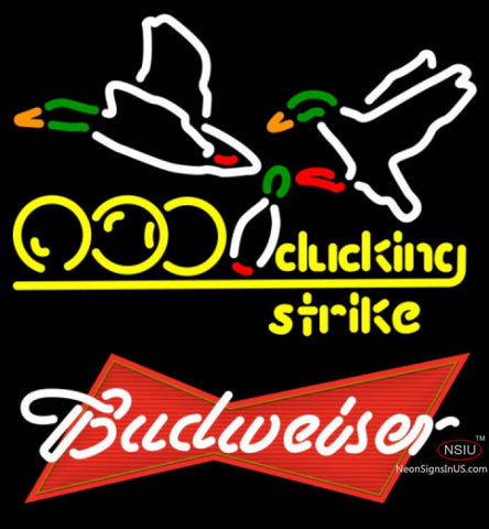 Budweiser Red Bowling Sucking Strike Neon Sign