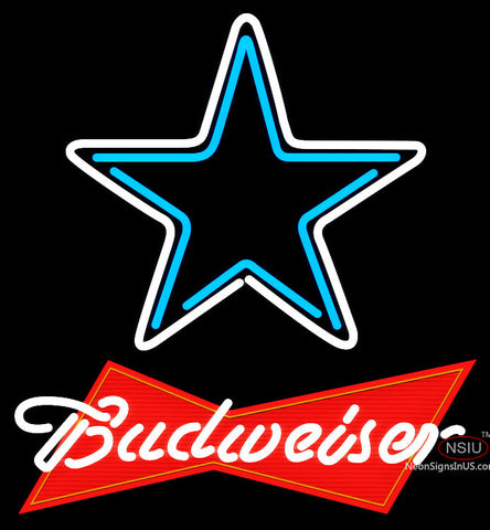 Budweiser Red Dallas Cowboys NFL Neon Sign