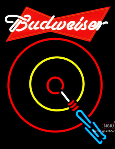Budweiser Red Darts Neon Sign