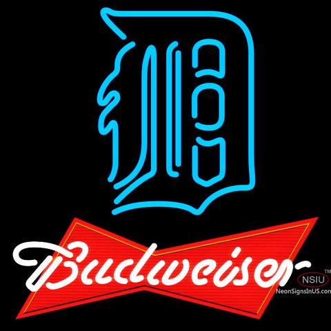 Budweiser Red Detroit Tigers MLB Neon Sign  x