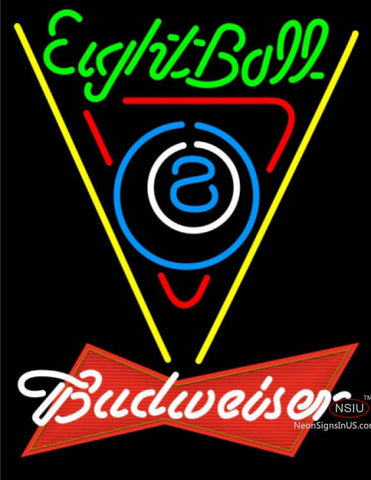 Budweiser Red Eight Ball Billiards Pool Neon Sign