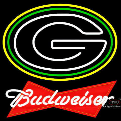 Budweiser Red Green Bay Packers NFL Neon Sign  x