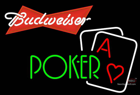 Budweiser Red Green Poker Neon Sign 7