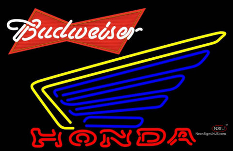 Budweiser Red Honda Motorcycle Gold Wing Neon Sign
