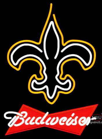 Budweiser Red New Orleans Saints NFL Neon Sign