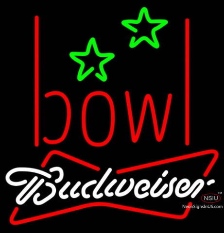 Budweiser White Bowling Alley Neon Sign   x