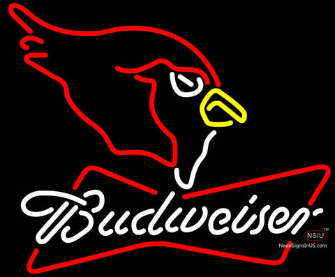 Budweiser Neon Logo Arizona Cardinals NFL Neon Sign
