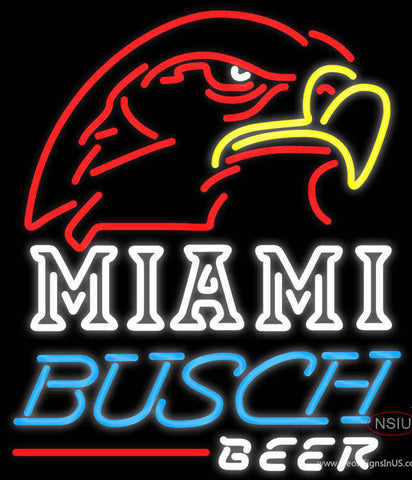 Busch Beer Miami UNIVERSITY Fall Session Neon Sign