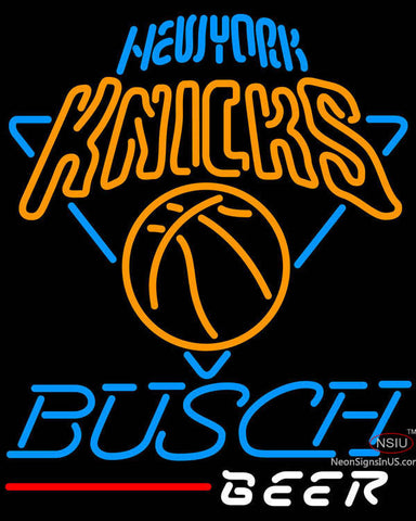 Busch Beer New York Knicks NBA Neon Sign