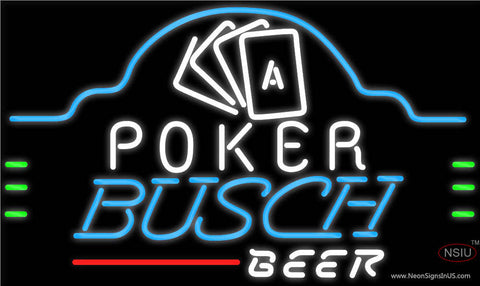 Busch Beer Poker Ace Cards Neon Sign